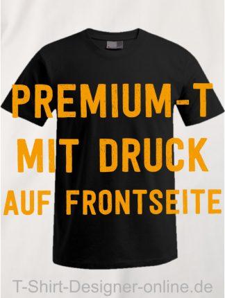 T-Shirt-Designer-Online-Shirts-mit-Siebdrucktransfer-Premium-T-Frontseite