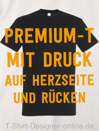 T-Shirt-Designer-Online-Shirts-mit-Siebdrucktransfer-Premium-T-Herzseite-und-Rücken